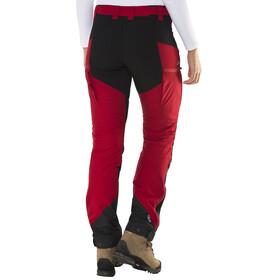 Lundhags Makke lange broek Dames rood/zwart